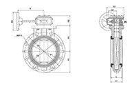 8 to 24 Inch (in) Gear Type Butterfly Valves