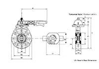 2 to 8 Inch (in) Universal Butterfly Valves - 2