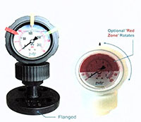 OBS Series Plastic Pressure Isolators and Pressure Gauges - 2