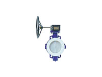 Wafer Lined Gear Operated Butterfly Valves