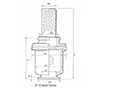 6 Inch (in) Ball Check Valve