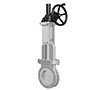 Gear Box Operated Bonnet, Packing, and Gland Type Soft Seat Knife Gate Valves