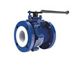 PFA Lined Side Split Full Port Lever Operated Ball Valves