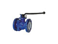 PFA Lined Side Split Reduced Port Lever Operated Ball Valves