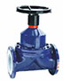 100 to 200 Millimeter (mm) Nominal Diameter (DN) Rising Handwheel Diaphragm Valves