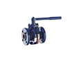 PFA Lined Center Split Full Port Lever Operated Ball Valves